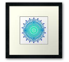 Mandala Blues Framed Print