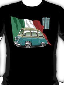 Fiat Multipla 600 caricature turquoise T-Shirt
