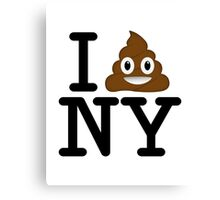 I love NY t-shirt parody 1 Canvas Print