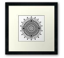 Black And White Mandala Framed Print