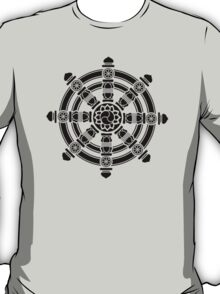 Dharma Wheel of Fortune, Buddhism, Auspicious Symbol T-Shirt