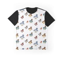 small cute cartoon house set pattern background Graphic T-Shirt