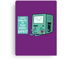 Who wants to play videogames? Canvas Print