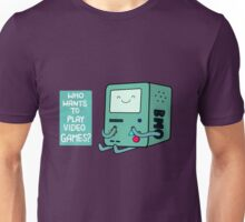 Who wants to play videogames? Unisex T-Shirt