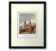 Cemetery Road Baptist Chapel, Sheffield, c. 1859 Framed Print