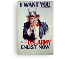Uncle Sam - I Want You for the US Army Canvas Print