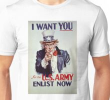 Uncle Sam - I Want You for the US Army Unisex T-Shirt