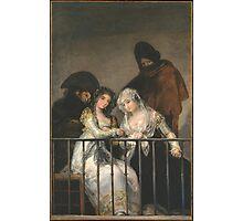 Goya - Majas Au Balcon Photographic Print