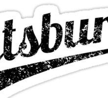 Distressed Retro Pittsburgh Logo Sticker