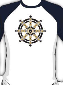 Dharma Wheel of Fortune, Buddhism, Auspicious Symbol T-Shirt