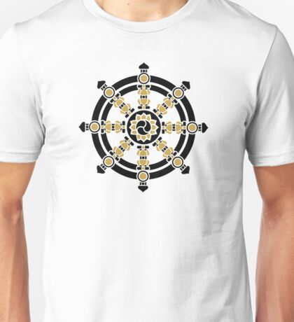 Dharma Wheel of Fortune, Buddhism, Auspicious Symbol Unisex T-Shirt