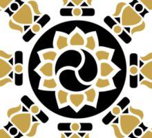 Dharma Wheel of Fortune, Buddhism, Auspicious Symbol Sticker