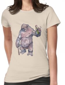 Bilbo and the Troll Womens Fitted T-Shirt
