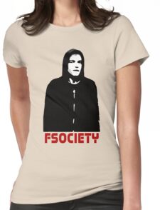 mr robot fsociety hacker anonymous tv elliot anderson protest political Womens Fitted T-Shirt