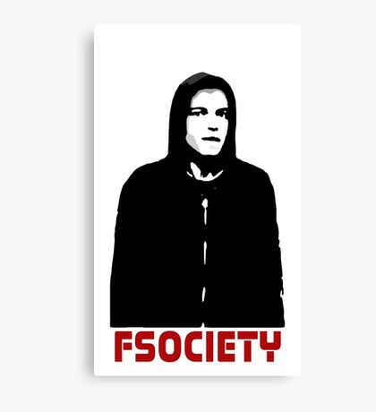 mr robot fsociety hacker anonymous tv elliot anderson protest political Canvas Print