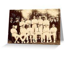 Sheffield Wednesday Cricket Club, c. 1900 Greeting Card