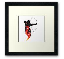 Katniss on Fire Framed Print