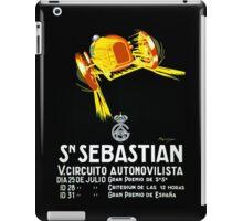 """SAN SEBASTIAN"" Vintage Grand Prix Auto Print iPad Case/Skin"