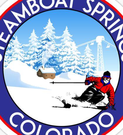 STEAMBOAT SPRINGS COLORADO SKI BIKE HIKE MOUNTAINS SKI LIFT Sticker
