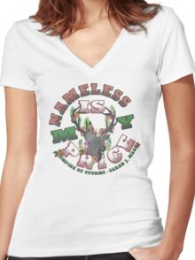 Empire of Storms - Nameless Is My Price Women's Fitted V-Neck T-Shirt