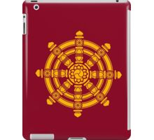 Dharma Wheel of Fortune, Buddhism, Auspicious Symbol iPad Case/Skin