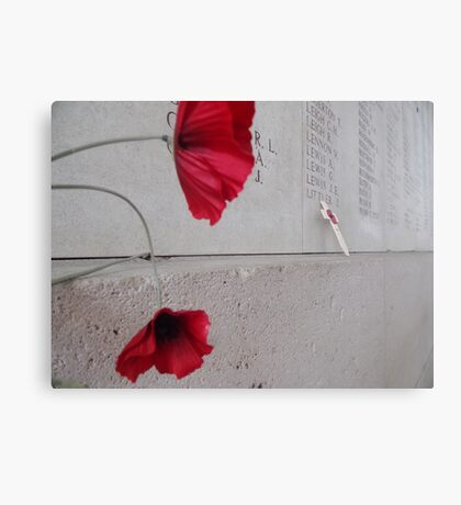 Poppy of Rememberance Canvas Print
