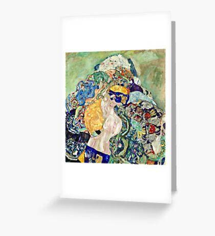 Gustav Klimt - Baby (Cradle)  Greeting Card