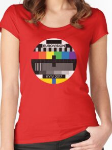 Eurovision testcard [Kyiv 2017] Women's Fitted Scoop T-Shirt