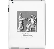 Classical Underpants Humorous Etching iPad Case/Skin