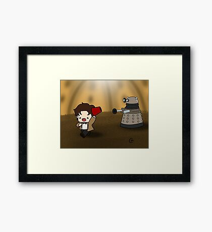 DALEK RUN Framed Print