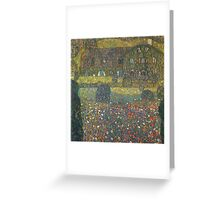 Gustav Klimt - Country House By The Attersee Greeting Card