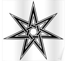 Elven Star, Fairy Star, Magical Heptagram Poster