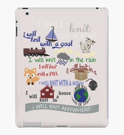 """Knitting Products """"I Will Knit with a Goat..."""" iPad Case/Skin"""