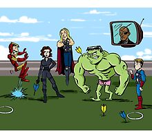 Avengers at Play by tupa