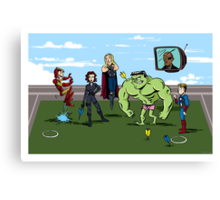 Avengers at Play Canvas Print