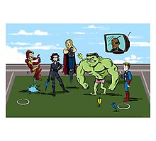 Avengers at Play Photographic Print