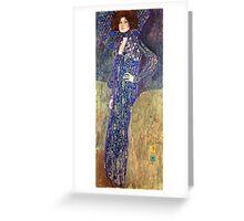 Gustav Klimt - Emilie Floege  Greeting Card