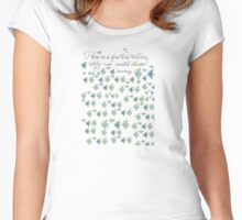 Quote about hobbies calligraphy  Women's Fitted Scoop T-Shirt