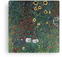 Gustav Klimt - Farm Garden With Sunflowers 1907 Canvas Print
