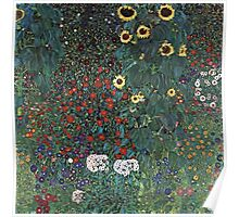 Gustav Klimt - Farm Garden With Sunflowers 1907 Poster