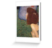 Gustav Klimt - Girl With Blue Veil, 1902 Greeting Card