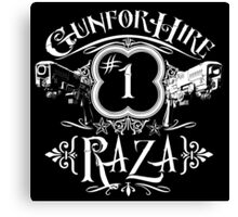 Raza Gun For Hire #1 Canvas Print