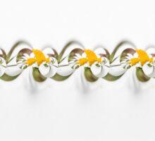 Flower ribbon Sticker