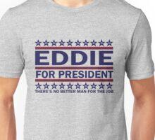 PJ - Eddie For Prez (Blue) Unisex T-Shirt