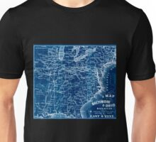 0201 Railroad Maps A map of the Baltimore Ohio Railroad and its principal connecting lines uniting all parts of the East Inverted Unisex T-Shirt