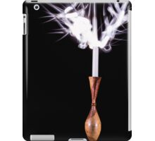Candle on fire iPad Case/Skin