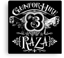 Raza Gun For Hire #3 Canvas Print