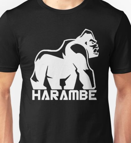 Harambe White Unisex T-Shirt