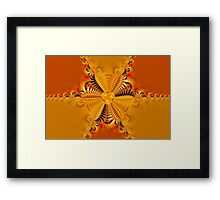 Twisting and turning colorful shapes Framed Print