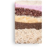 Knit layers Canvas Print